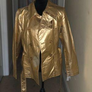 Gold Ralph Lauren Trench Coat